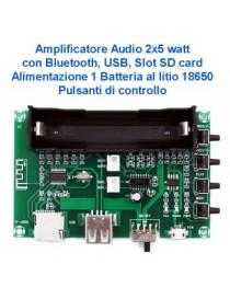 AMPLIFICATORE 2X5 W CON...