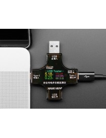 Multifunctional USB Digital Tester - USB A and C