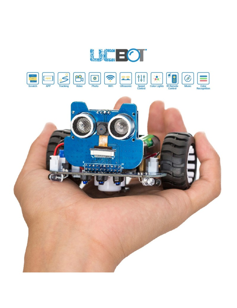UCTRONICS WiFi Robot Car Kit for Kids to Build with Real Time Video Camera, STEM Education Tool Programmable