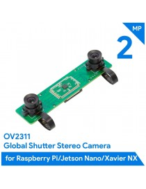 2MP Stereo Camera for Rasp, Jetson - Dual OV2311
