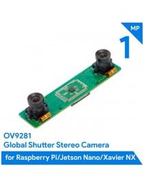 1MP Stereo Camera for Rasp, Jetson - Dual OV9281