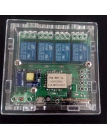 Acrylic Case for Shooting Star 4 Channel WiFi Wireless Switch-Tr