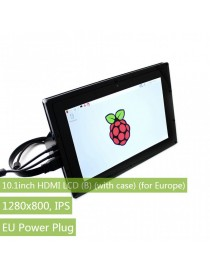 10.1inch HDMI LCD (B) (with case) (for Europe), 1280×800, IPS