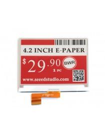 4.2inch E-Ink raw display, three-color e paper black white red