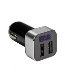CARICATORE AUTO USB LCD
