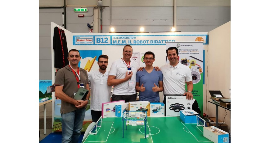 Makeblock con Robotics 3D al Makerfaire