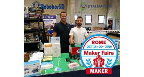 Robotics 3D al Makerfaire 2019 con MARRtino