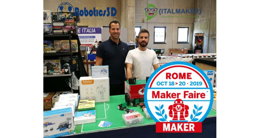Robotics 3D al Makerfaire 2019 con MARRtino